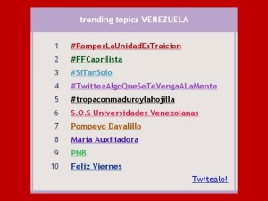 TRENDING TOPIC 24 DE MAYO