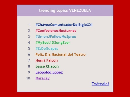 TRENDING TOPIC 28 DE JUNIO