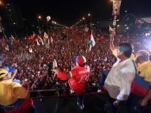 VENEZUELA-ELECTIONS-MADURO-MARADONA